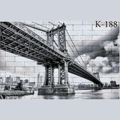 """Интерьерная деколь """"Бруклинский мост"""""""