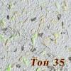 Жидкие обои Новый-Тон 35, композиция цветов, смесь шёлка и целлюлозы