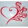 Сердце-цветы А3