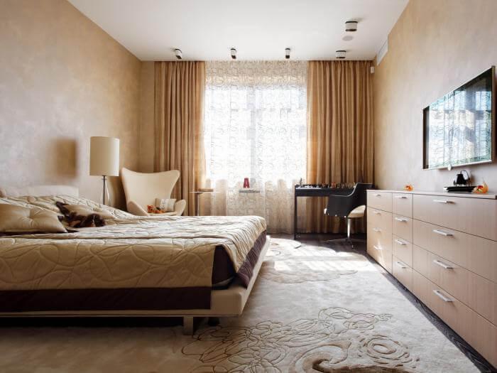 жидкие обои в спальне фото шелковая штукатурка в интерьере спальни